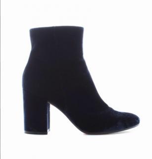 Gianvito Rossi Shelly 85 Velvet Ankle Boots