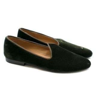 Le Monde Beryl Venetian velvet slipper shoes - New Season