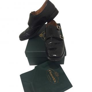 Churches Black Leather Monk Shoes
