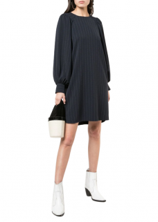 Ganni Navy Pinstriped Mini Dress SS 2019 - New season