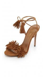 Aquazzura 'Wild Thing 105' Fringed Suede Sandals