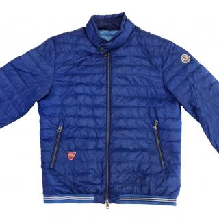 Moncler Navy Blue Longue Saison Down Quilted Jacket