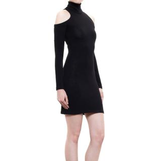 Balmain Wool Cut-Out Shoulder Dress