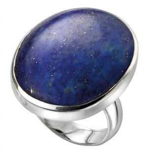 Elements Silver Lapis Lazuli Ring
