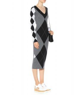 Stella McCartney Argyle Check Midi Dress