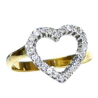 Bespoke 0.50ct Diamond Heart 18ct Gold  Ring
