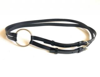 Ann Demeulemeester black leather double belt