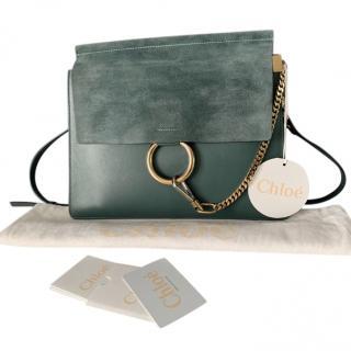 Chloe Faye Medium Suede and Leather Bag