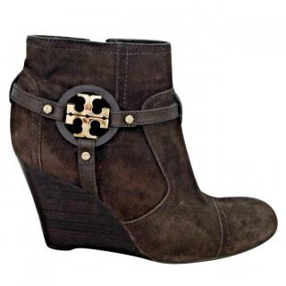 7833a7ff260e Tory Burch suede ankle boots