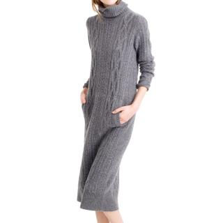 J Crew Collection Cashmere Cable-Knit Sweater Dress