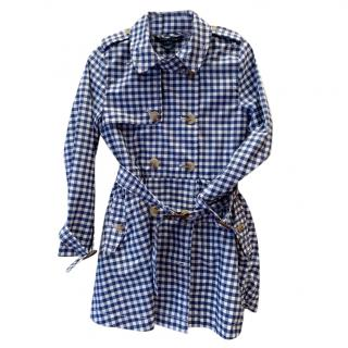 Ralph Lauren girls gingham trench coate
