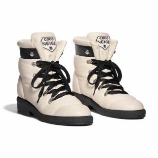 Chanel Coco Neige Nylon Short Boots