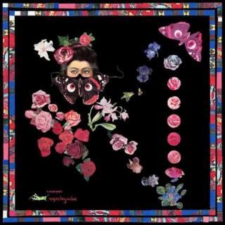 Leonard Paris Volubilis black fantasy print silk twill scarf
