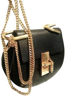 Chloe Drew Small Chain Black Leather Cross Body Bag