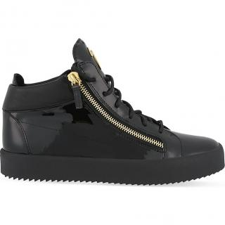 Giuseppe Zanotti Mid-top patent leather trainers