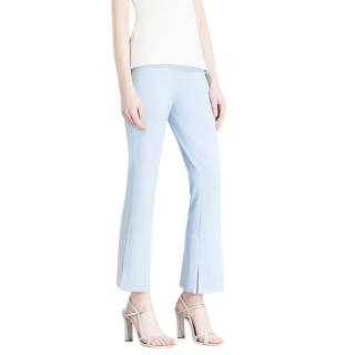 Roland Mourert Goswell High-Rise Flared Cropped Crepe Trousers