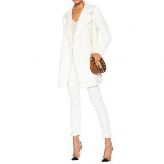 Vince Sweater Sleeve Wool-Blend Coat
