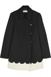 Red Valentino Two-Tone Scalloped Coat