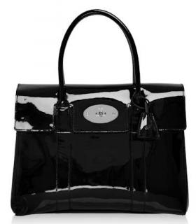 Mulberry Black Patent Bayswater