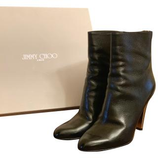 Jimmy Choo Black Leather Ankle Boots