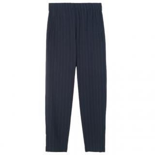 Ganni Heavy Crepe pinstriped trousers - New Season