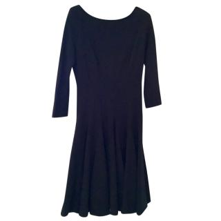 Issa black skater style dress, UK 8