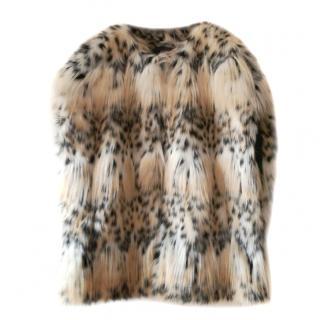 Les Copains Lynx faux fur vest