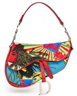 Christian Dior Rasta Mania Saddle bag Leather & Canvas