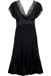 Diane von Furstenberg Ulla silk dress with lace inserts