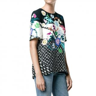 Peter Pilotto Floral Print Crepe Top