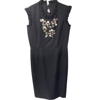 Comme des Garcons Girl wool embellished sleeveless dress
