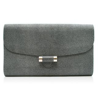 Yves Saint Laurent stingray leather clutch