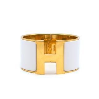 Hermes Clic Clac H Extra Large vintage enamel bangle
