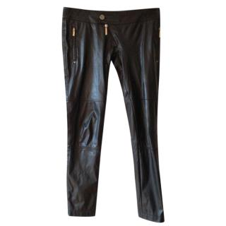 Elisabetta Franchi Faux leather trousers