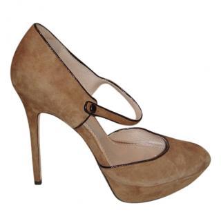 Jean Michel Cazabat suede camel sandals