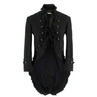 Alexander McQueen tailored denim tail jacket
