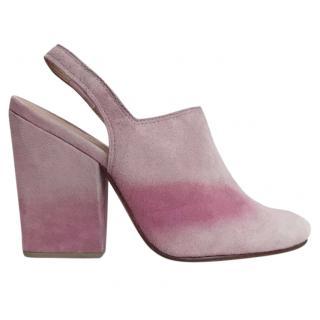 Rachel Comey Kai Suede Pink Ombre Sling-Back Block Heels