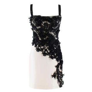 Dolce & Gabbana lace-applique cady slip dress