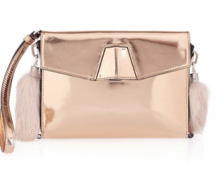 Alexander Wang Lydia Metallic Clutch Bag