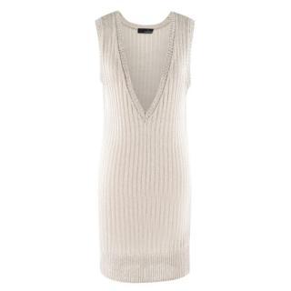Amanda Wakeley metallic-knit sleeveless sweater dress