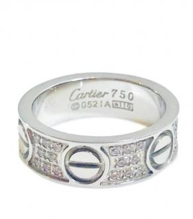 ae6d56e17 Cartier 18k White Gold-Diamond Love Ring