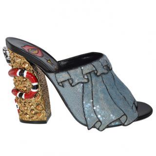 Gucci embellished mules