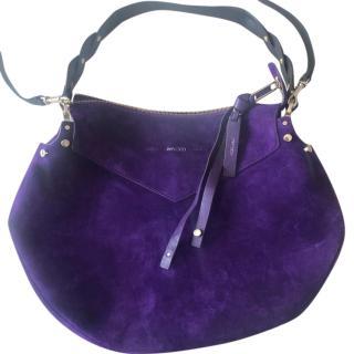 Jimmy Choo Purple Suede Artie Bag