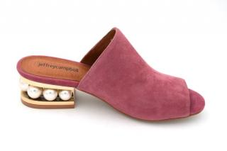 Jeffrey Campbell Pink Jewelled Suede Leather Mules
