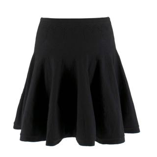 Alaia Paris Black Knit Mini Skirt