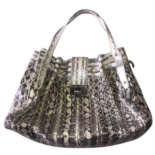 Jimmy Choo Snakeskin Large Ramona Bag