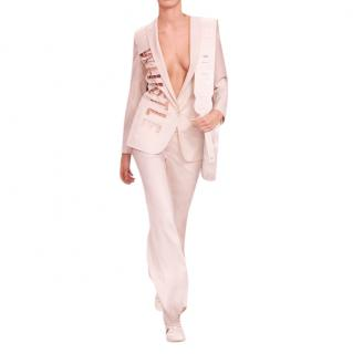 Stella McCartney Pale Pink Whistle Cut-Out Jacket