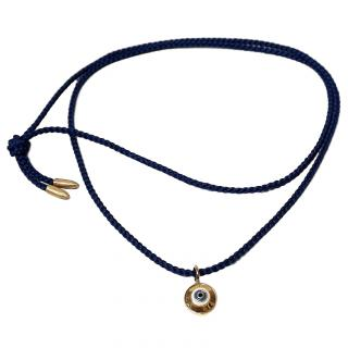 Luis Morais Evil Eye Talisman Necklace 14ct Gold