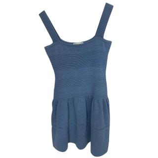 Maje Knit Blue Sleeveless Dress
