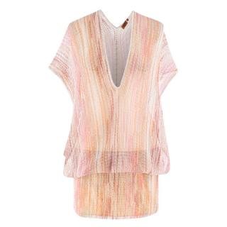 Missoni Pink Sheer Crochet Dress